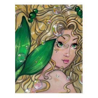 """Jade Mermaid"" postcard"