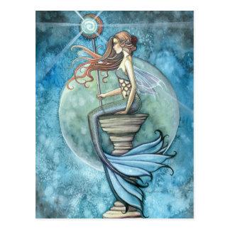 Jade Moon Mermaid Postcard