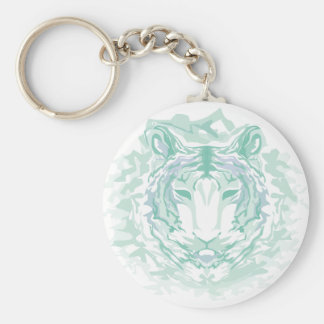 Jade mountain tiger keychain