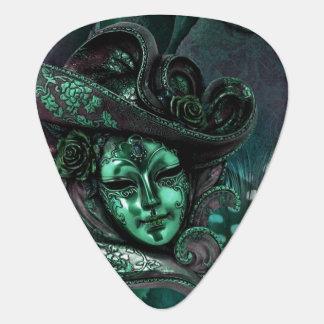 Jade N Gray Masquerade Carnival Mask Guitar Pick
