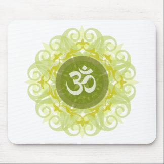 Jade Om Mandala Mouse Pad