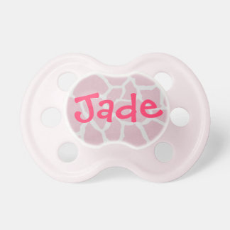 """Jade"" Personalized Name Baby Girl Pacifier"