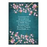 Jade Pink Japanese Cherry Blossoms Wedding Invite