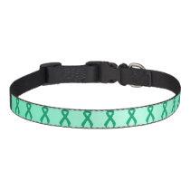 Jade Ribbon Support Awareness Pet Collar