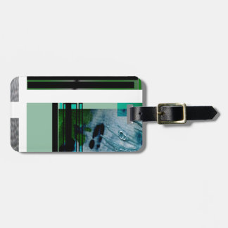 Jade Sage abstract art Tags For Luggage