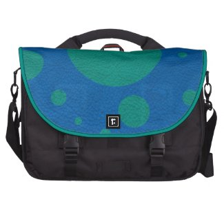 Jade Scattered Spots on Lapis Leather Texture Laptop Bags
