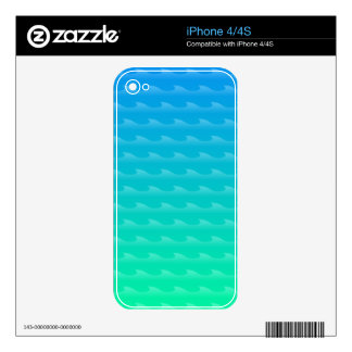 Jade Sea Vector Wave Pattern Decal For The iPhone 4S