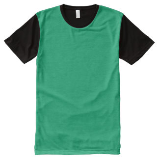 Jade Solid Color All-Over Print T-shirt