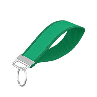 Jade Solid Color Wrist Keychain