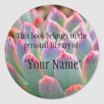 Jade Succulent Personal Library Sticker