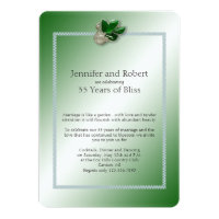 Jade Swan 35th Wedding Anniversary Invitation