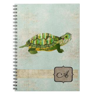 Jade Turtle Monogram Notebook