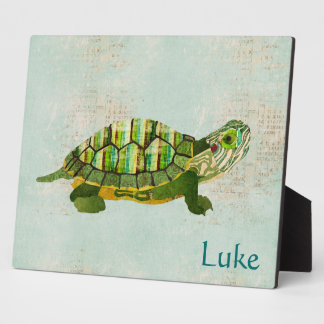 Jade Turtle Personalized Plaque