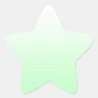 Jade verde claro de la pendiente claro poner verde pegatina en forma de estrella
