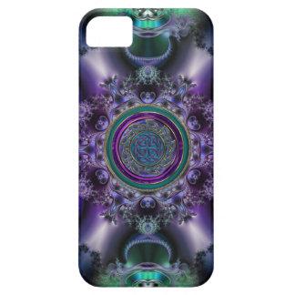 Jade y diseño céltico Amethyst del fractal iPhone 5 Coberturas