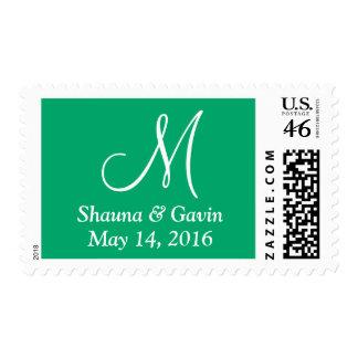 Jade Your Letter Wedding Stamp