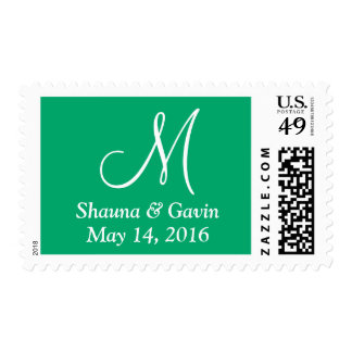 Jade Your Letter Wedding Stamps