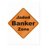 Jaded Banker Postcard