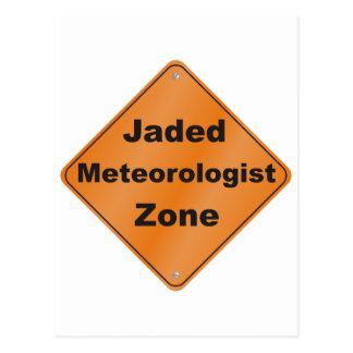 Jaded Meteorologist Postcard