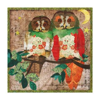 Jaded Rose Night Owls Art Canvas