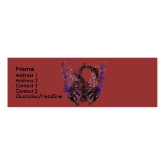 Jaded Scorpion Template Mini Business Card