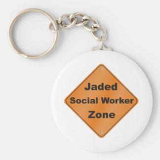 Jaded Social Worker Basic Round Button Keychain