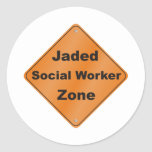 Jaded Social Worker Classic Round Sticker