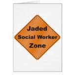 Jaded Social Worker Greeting Card