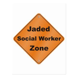 Jaded Social Worker Postcard
