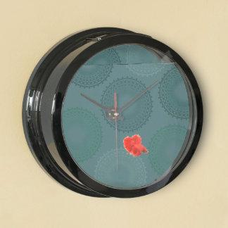 Jaded Teal Lace Doily Aquavista Clock