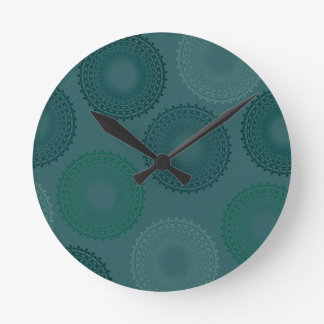 Jaded Teal Lace Doily Clock