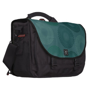 Jaded Teal Lace Doily Commuter Bag