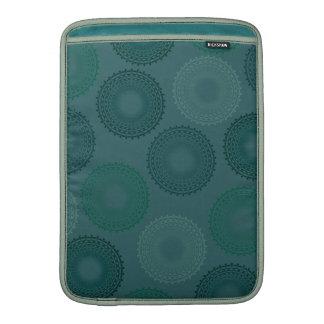Jaded Teal Lace Doily MacBook Air Sleeves