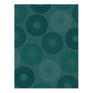 Jaded Teal Lace Doily Postcard