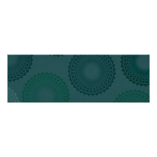 Jaded Teal Lace Doily Poster