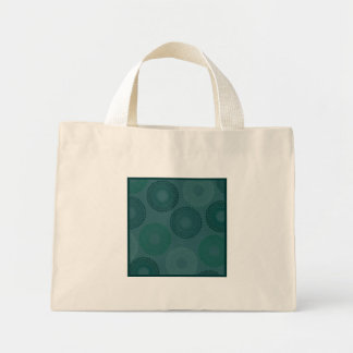 Jaded Teal Lace Doily Small Mini Tote Bag