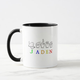 JADEN FINGERSPELLED ASL NAME SIGN MUG