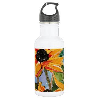 Jadeo Negro-observado amarillo del arte del Botella De Agua