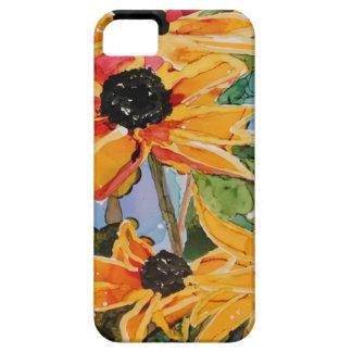 Jadeo Negro-observado amarillo del arte del Wildfl iPhone 5 Case-Mate Carcasas