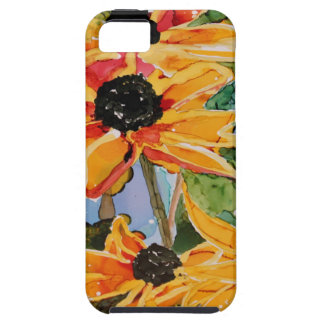 Jadeo Negro-observado amarillo del arte del Wildfl iPhone 5 Case-Mate Carcasa