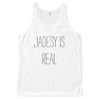 Jadesy is Real tanktop All-Over Print Tank Top