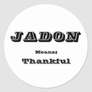 Jadon Etiquetas Redondas