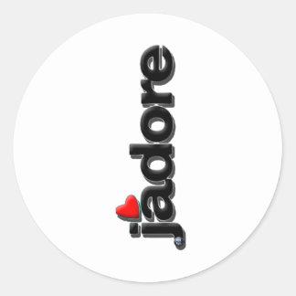 jadore classic round sticker