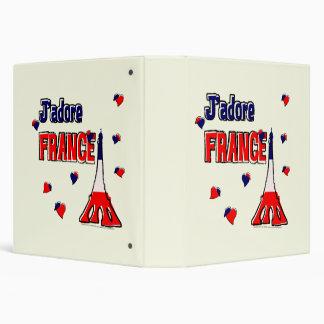 """J'adore France 1.5"""" Binder"""