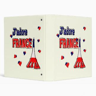 """J'adore France 1"""" Binder"""