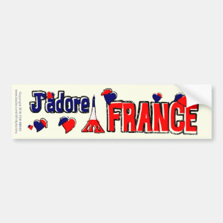 J'Adore France Bumper Sticker