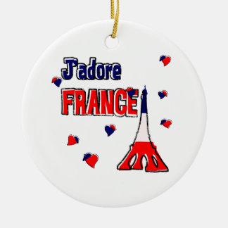 J'adore France Ceramic Ornament
