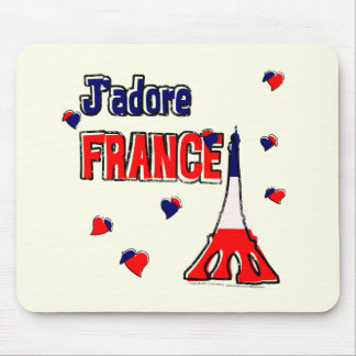 J'Adore France Mouse Pad