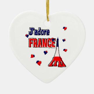 J'adore France Ornament