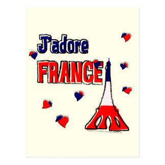 J'Adore France Postcard